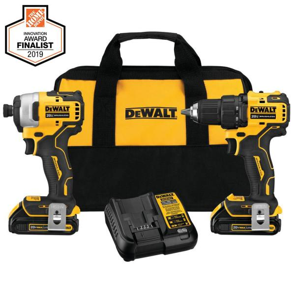 DEWALT DCK278C2 ATOMIC 20V MAX Li-Ion Brushless Compact Drill/Impact Combo Kit