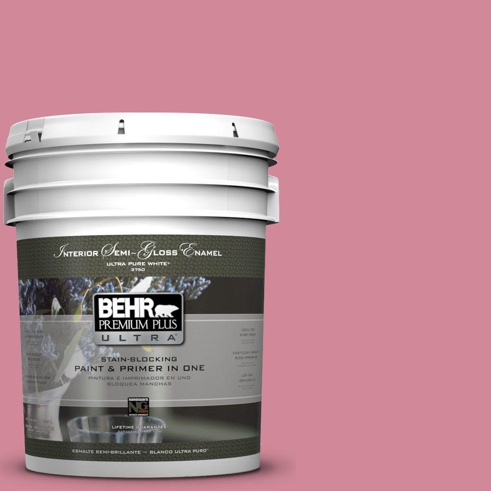 BEHR Premium Plus Ultra 5-gal. #M140-4 Fruit Cocktail Semi-Gloss Enamel Interior Paint