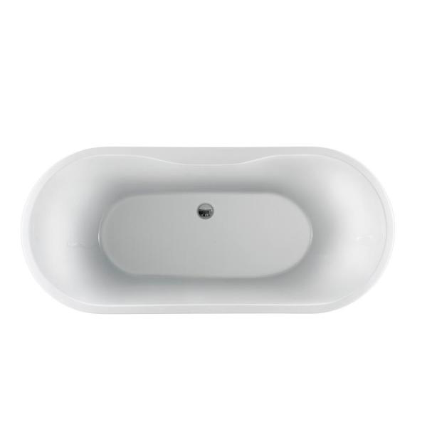 Barclay Products Pilar 65 In Acrylic Flatbottom Non Whirlpool Bathtub In White With No Holes And Integral Drain Atovn65fig Bn The Home Depot