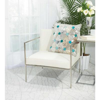 Turquoise Stars Polyester Standard Throw Pillow