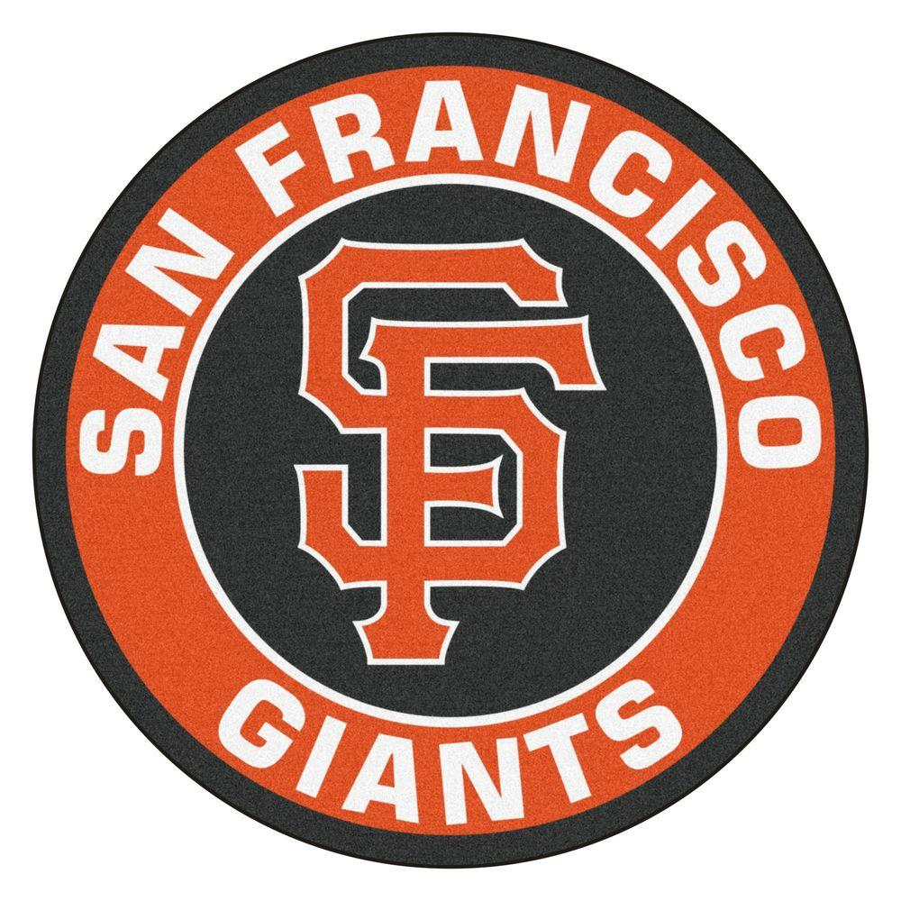 Fanmats Mlb San Francisco Giants Orange 2 Ft X 2 Ft