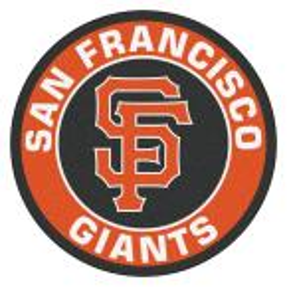 MLB San Francisco Giants Orange 2 ft. x 2 ft. Round Area Rug