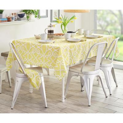 Lime Chase Geometric Stain Resistant Indoor Outdoor Tablecloth