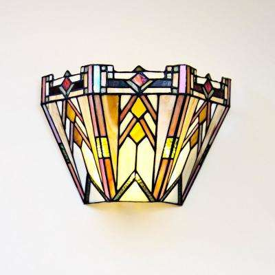 colored glass lighting. 3-Watt Multi-Colored Mission Stained Glass Integrated LED Sconce Colored Glass Lighting