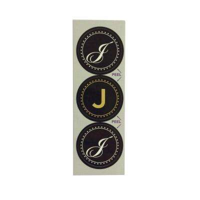 J Monogram Decorative Bathroom Sink Stopper Laminates (Set of 3)