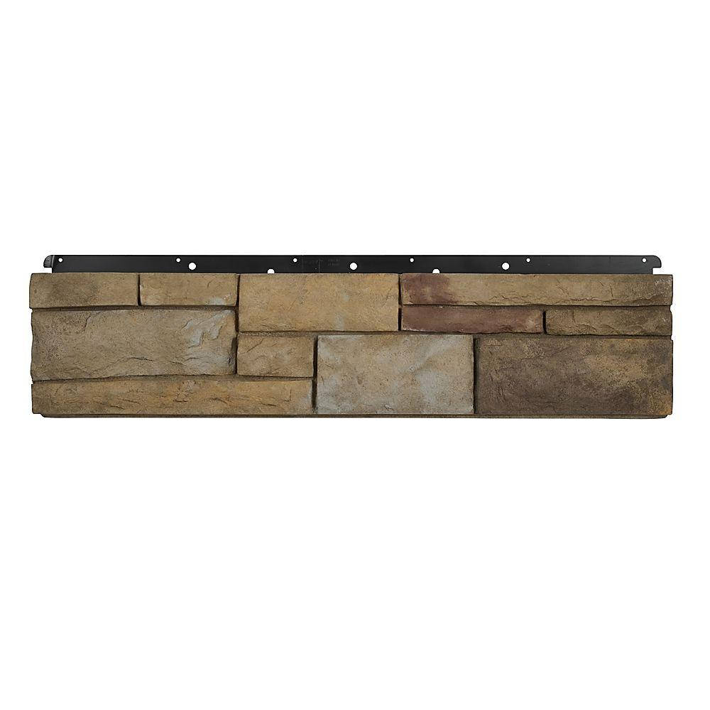 Boral 8 in. x 36 in. Versetta Stone Tight-Cut Flat Plum Creek Siding (6-Bundles)