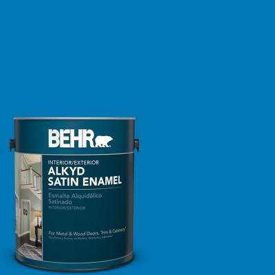 1 gal. #S-G-540 Song Bird Satin Enamel Alkyd Interior/Exterior Paint