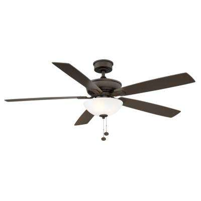Blakeford 60 in. LED Espresso Bronze DC Motor Ceiling Fan with Light