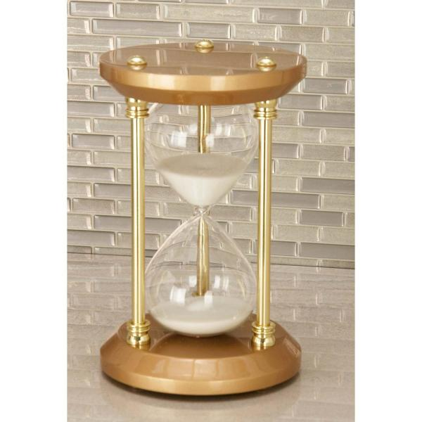 Litton Lane 9 in. x 5 in. Traditional Brown Hourglass