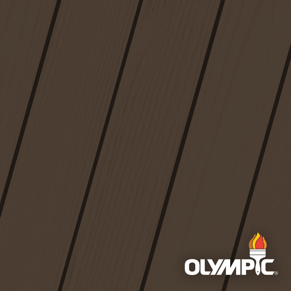 Olympic Maximum 1 gal. Coffee (Brown) Semi-Transparent Exterior Stain and Sealant in One -  OLY711-01