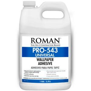 Roman pro 543 1 gal f style universal wallpaper adhesive for Wallpaper paste home depot