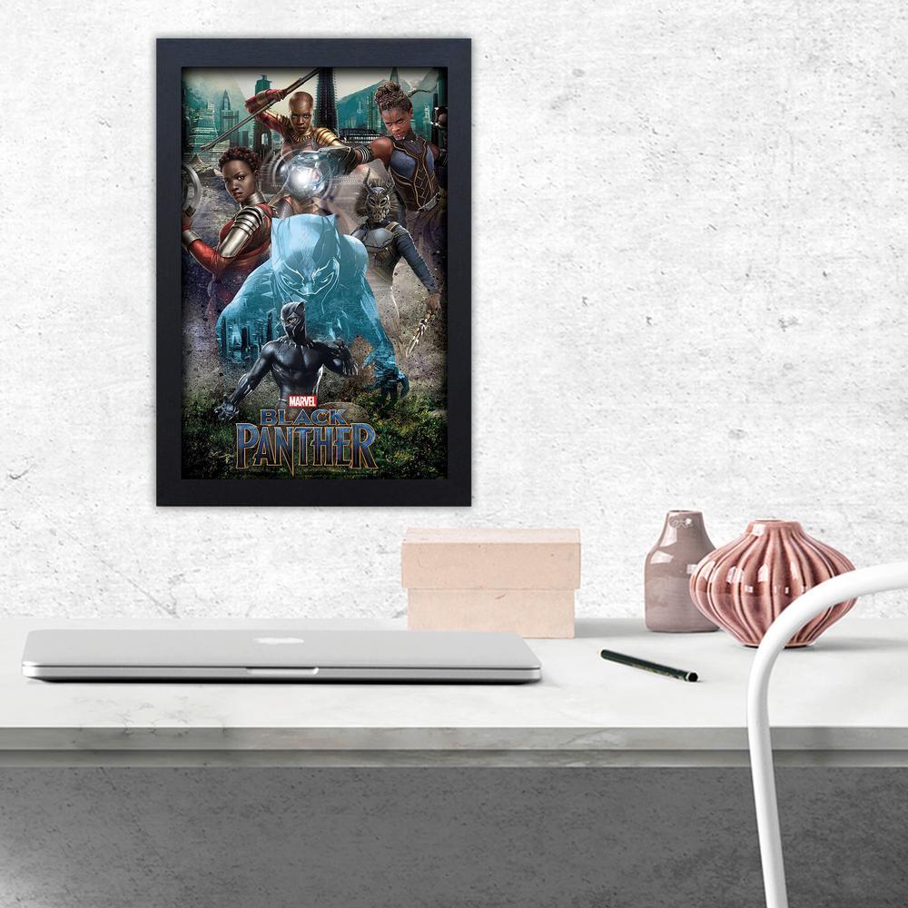 Black Panther Killmonger - 11x17 Framed Gel-Coat