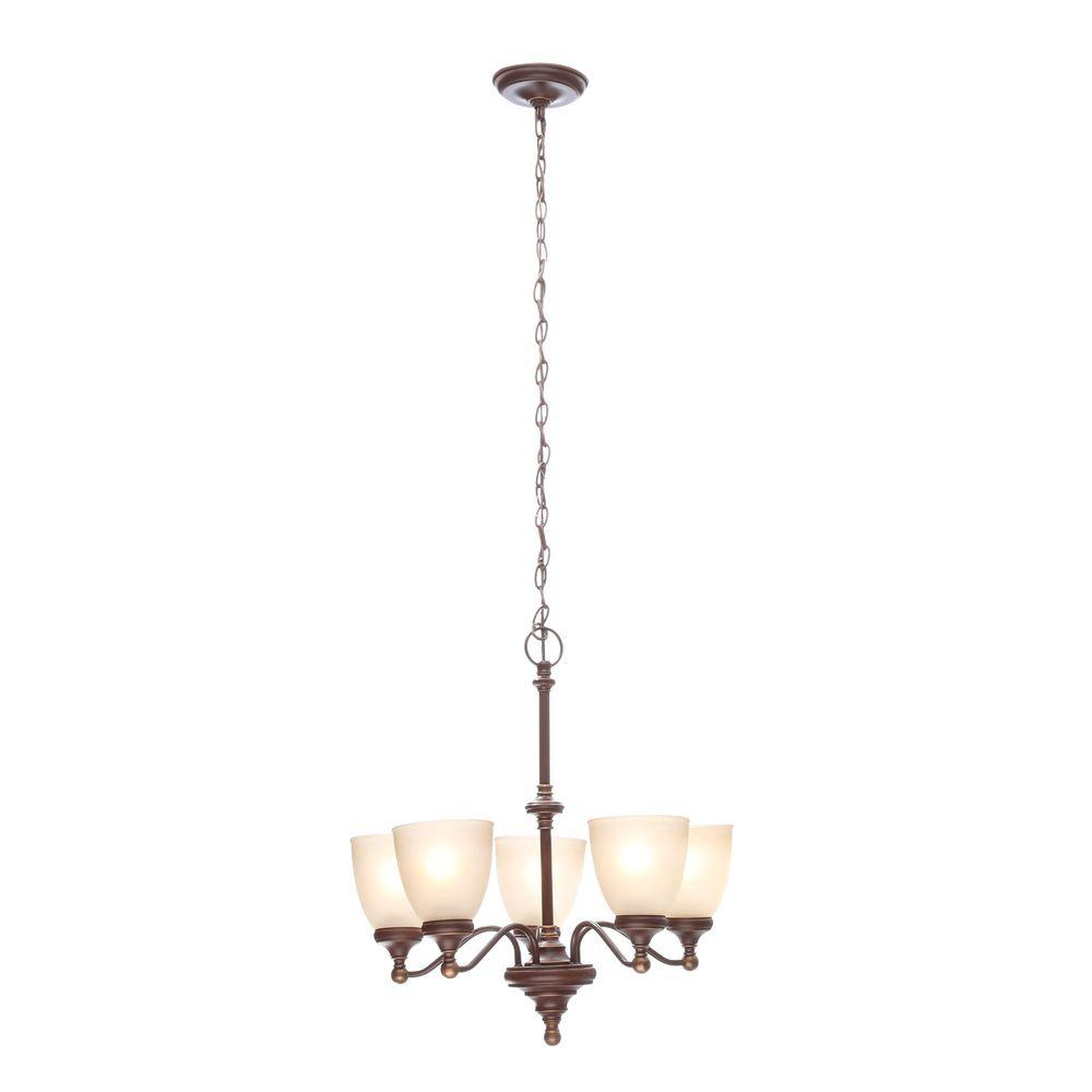Bristol 5-Light Nutmeg Bronze Chandelier