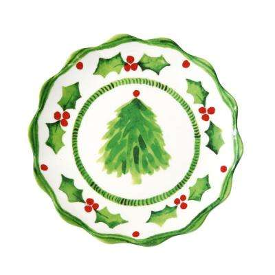 Holly Jolly Green/White Salad Plate (Set of 4)