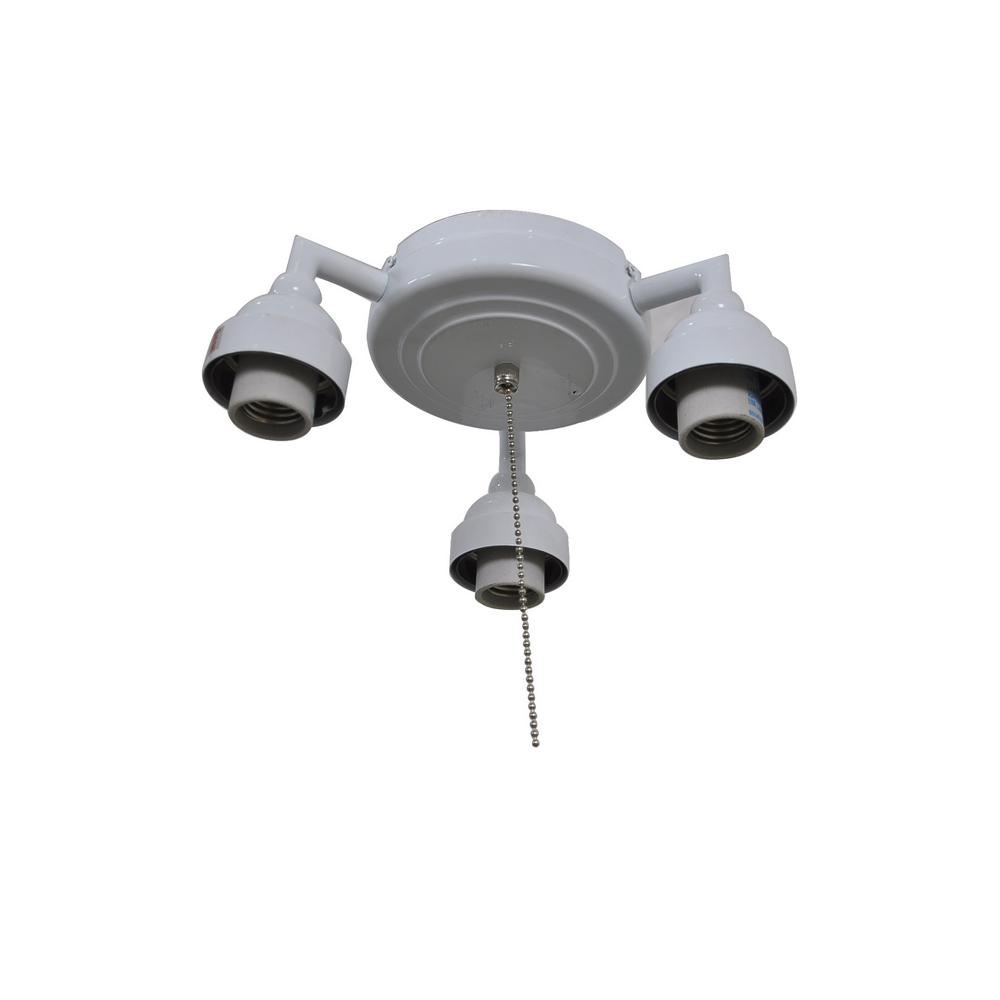 Home Decorators Collection Trentino Ii 60 In White Light Kit 1000053064014 The Home Depot