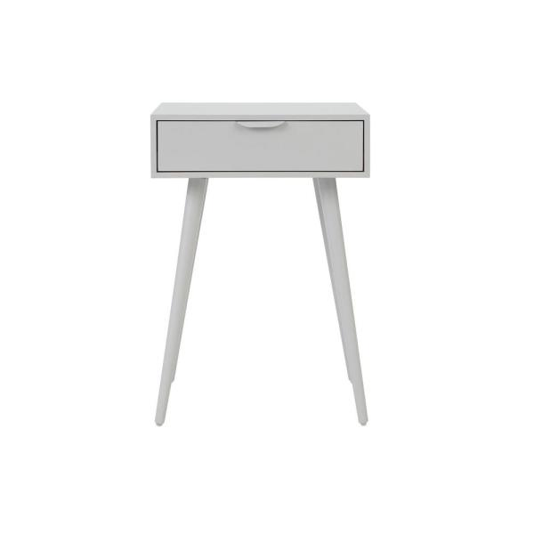 Amerlin 1 Drawer Shadow Gray Wood Nightstand (18 in W. X 26 in H.)