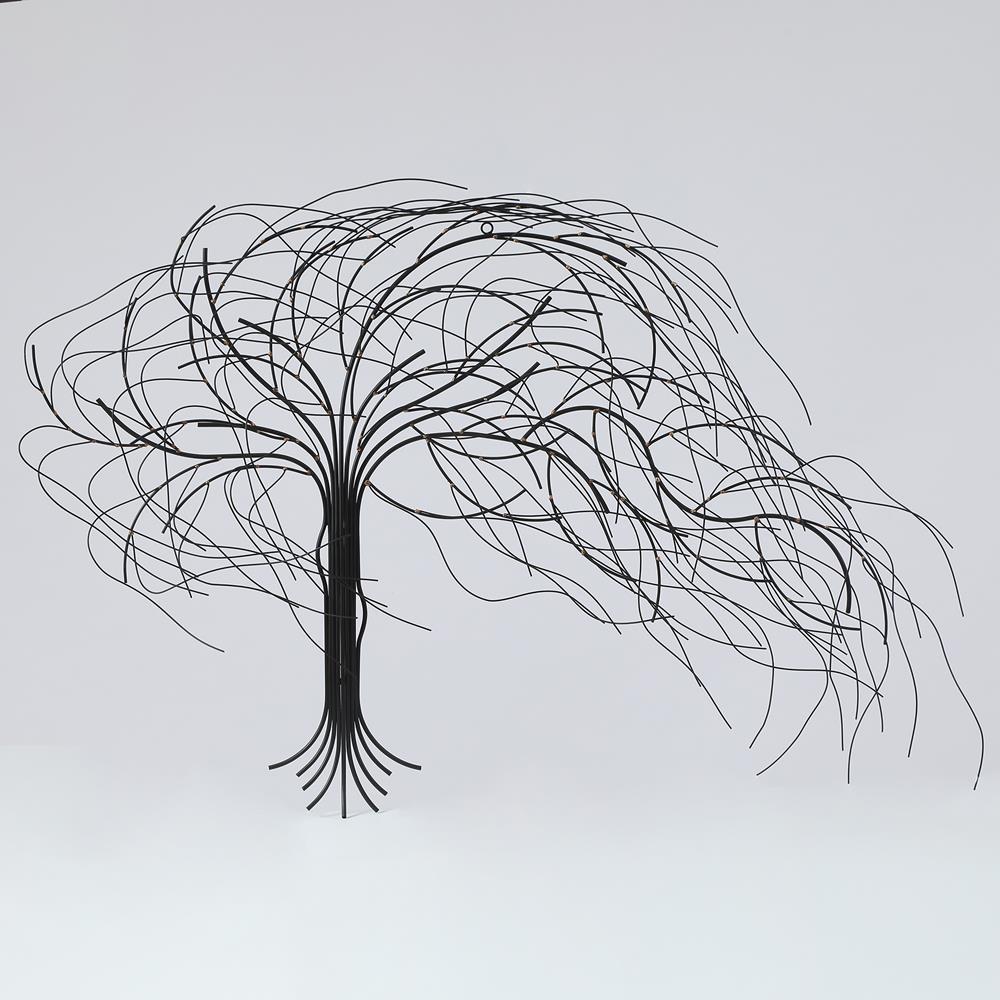 Metal Windy Tree Wall Decor