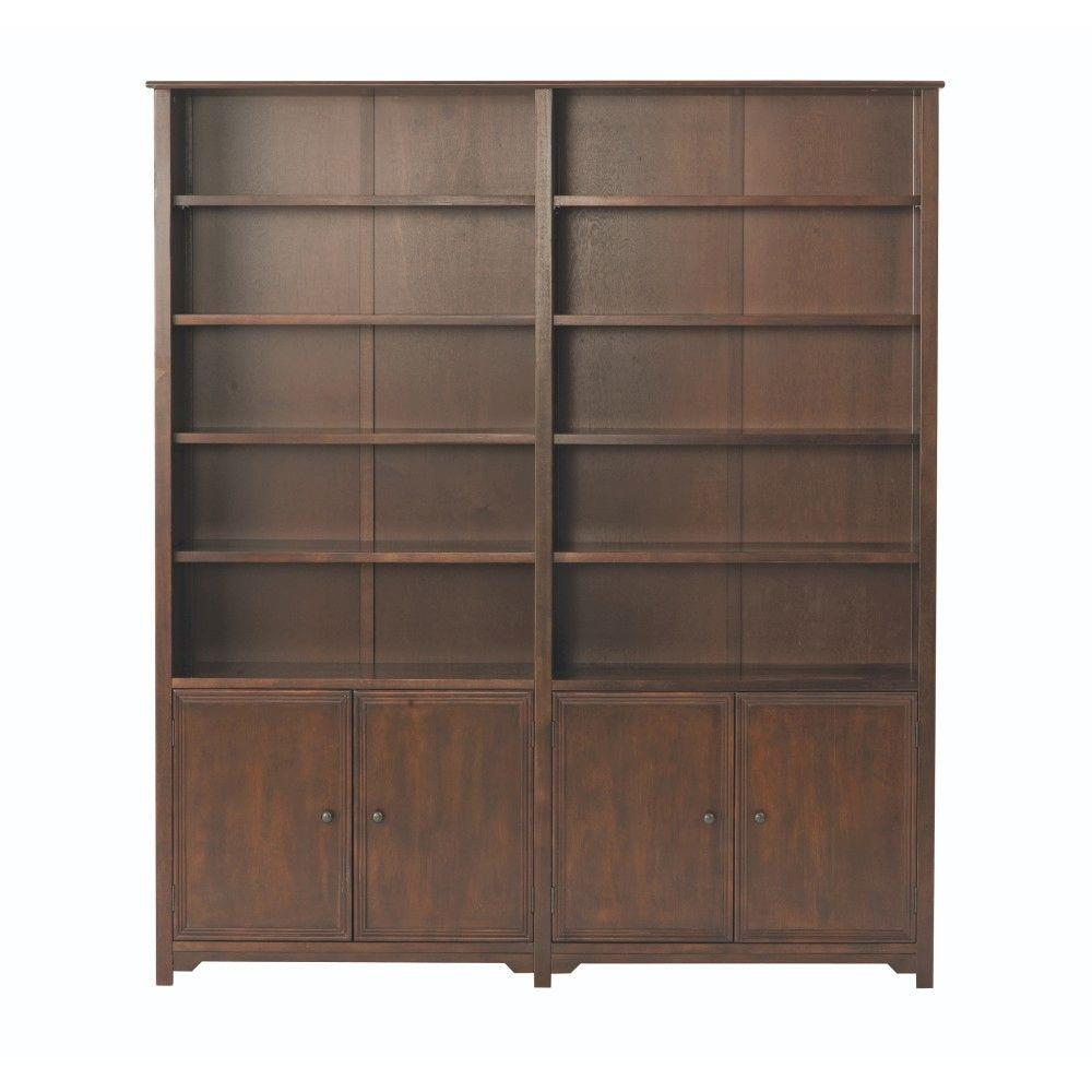 Home decorators collection oxford chestnut storage open for Home decorators bookcase