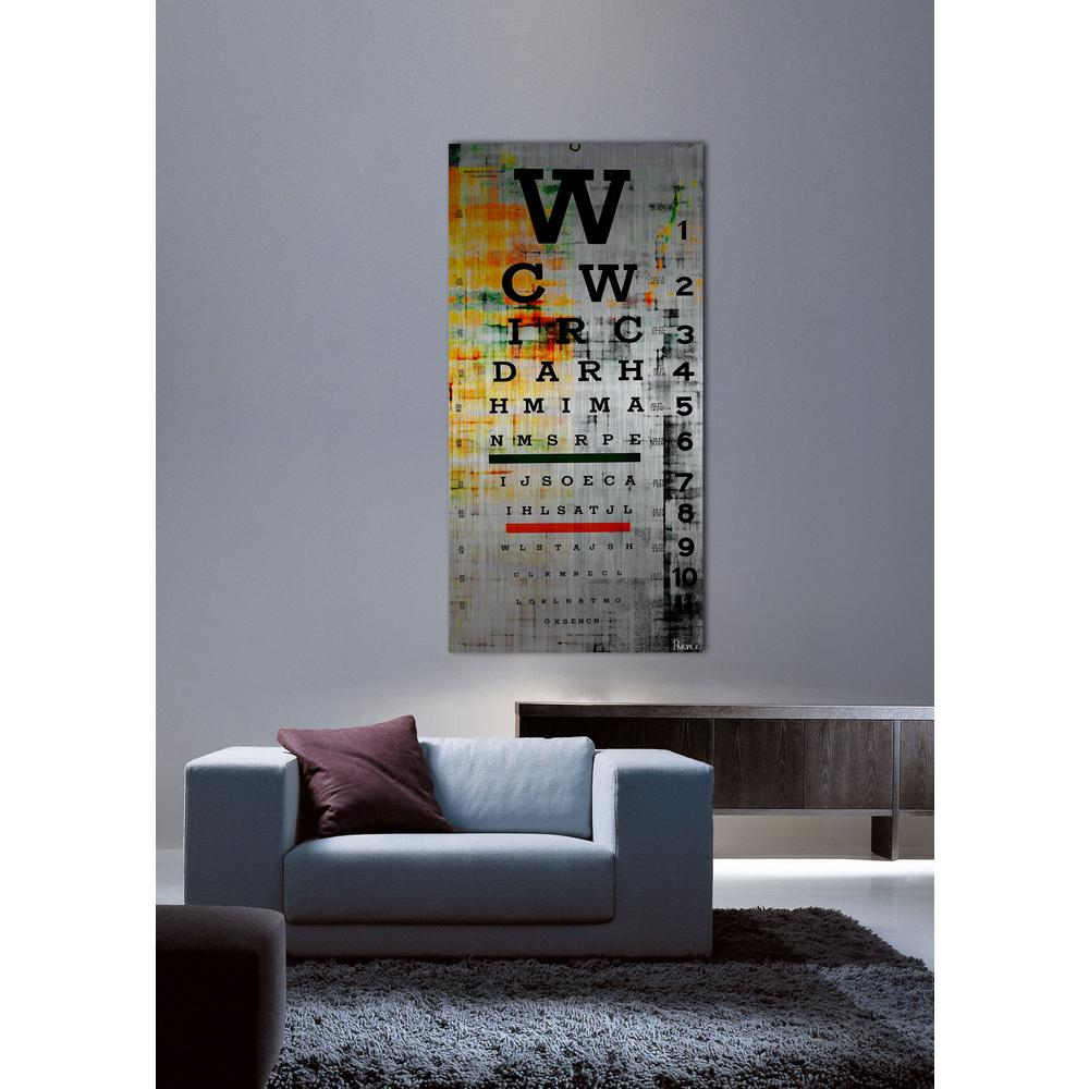"60 in. H x 30 in. W ""Eye Chart"" by Parvez"
