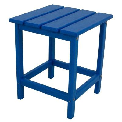 Long Island 18 in. Pacific Blue Patio Side Table