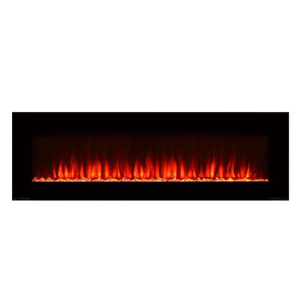 Wondrous Paramount Premium 50 In Wall Mount Electric Fireplace In Black Interior Design Ideas Skatsoteloinfo
