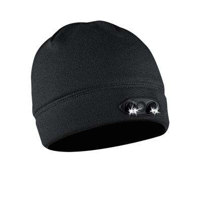 POWERCAP LED Beanie Cap 35/55 Ultra-Bright Hands Free LED Lighted Battery Powered Headlamp Hat Black Fleece