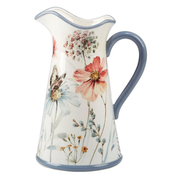 Certified International Country Weekend 3 qt. Multi-Colored Pitcher 23603