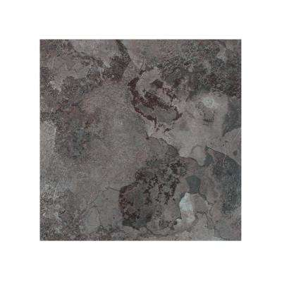 Portfolio Midnight Marble 12 in. x 12 in. Peel and Stick Vinyl Tile Flooring (9 sq. ft./case)