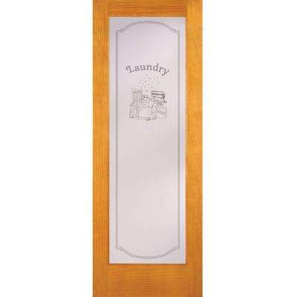 Laundry Woodgrain 1 Lite Unfinished Cherry Interior Door Slab