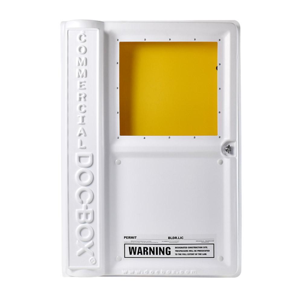 25 in. x 36 in. x 6.5 in. Outdoor/Indoor Commercial Posting Permit Box Unit