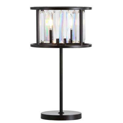 Bevin 21.5 in. Oil Rubbed Bronze/Crystal Metal/Crystal LED Table Lamp