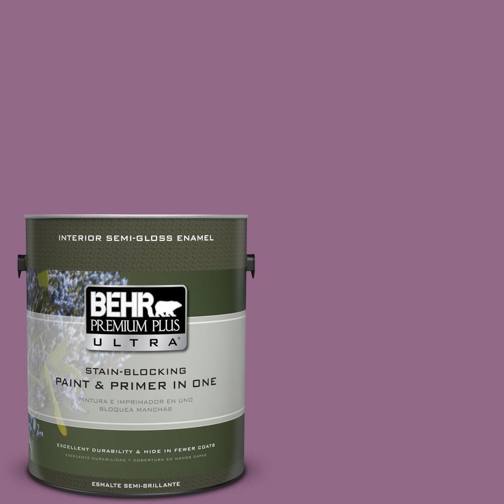 1 gal. #680D-6 Lantana Semi-Gloss Enamel Interior Paint and Primer in