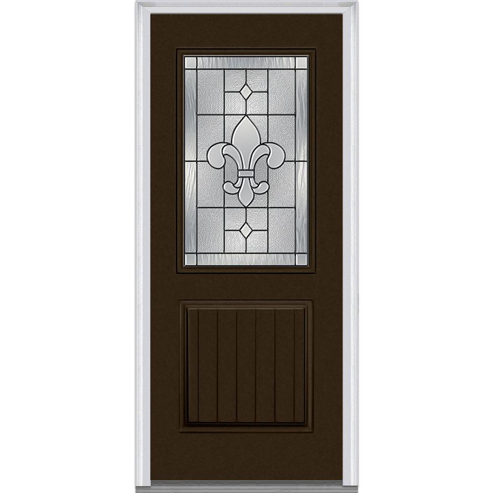 Mmi Door 36 In X 80 In Camelia Left Hand Center Arch Lite