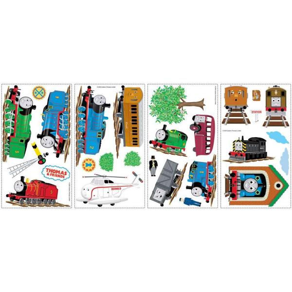 5 in. x 11.5 in. Thomas and Friends Peel and Stick Wall Decals (27-Piece)