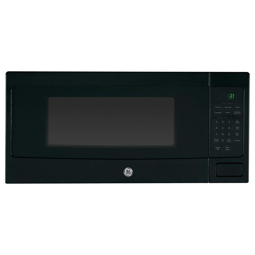 GE Profile 1.1 cu. ft. Countertop Microwave in Black