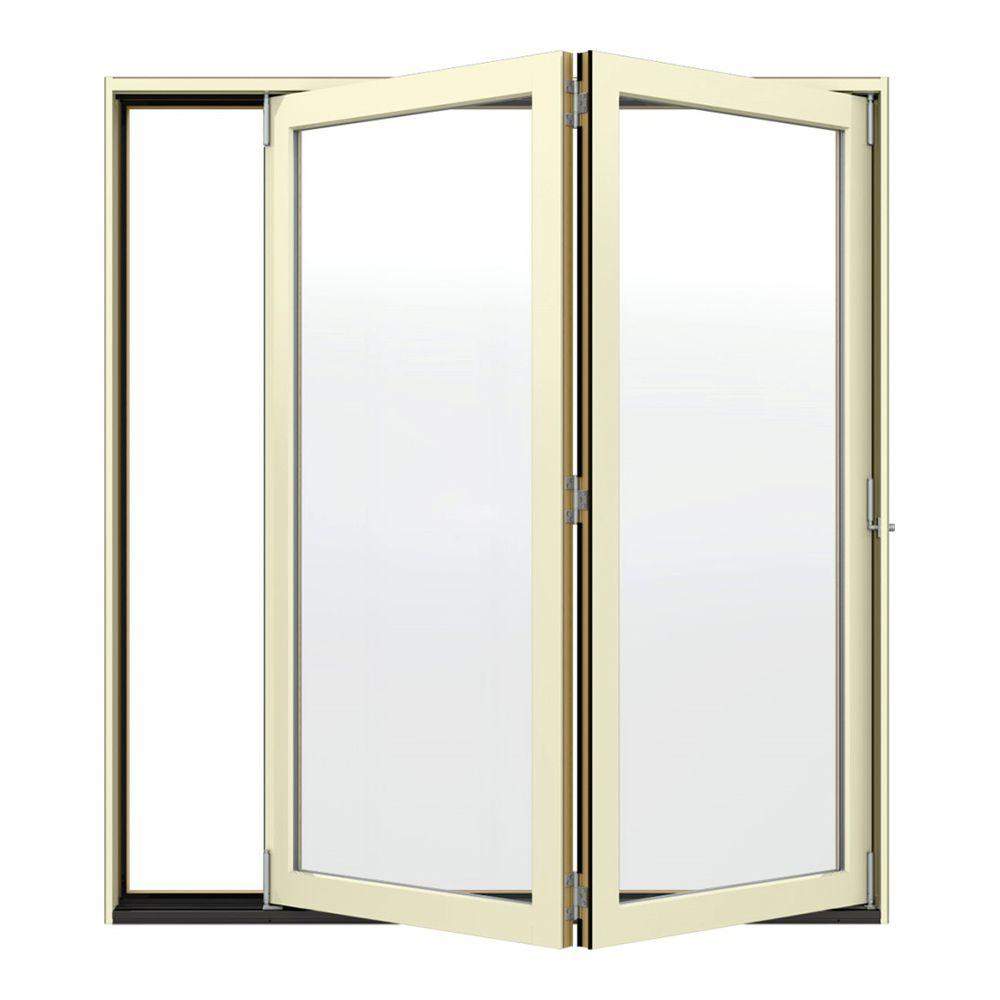 Classic Clear Glass 72 in. x 80 in. Fiberglass Smooth Prehung