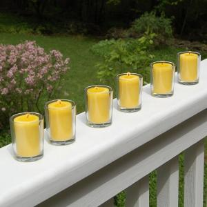 Lumabase Clear Glass Candle Holders (set of 6) by Lumabase