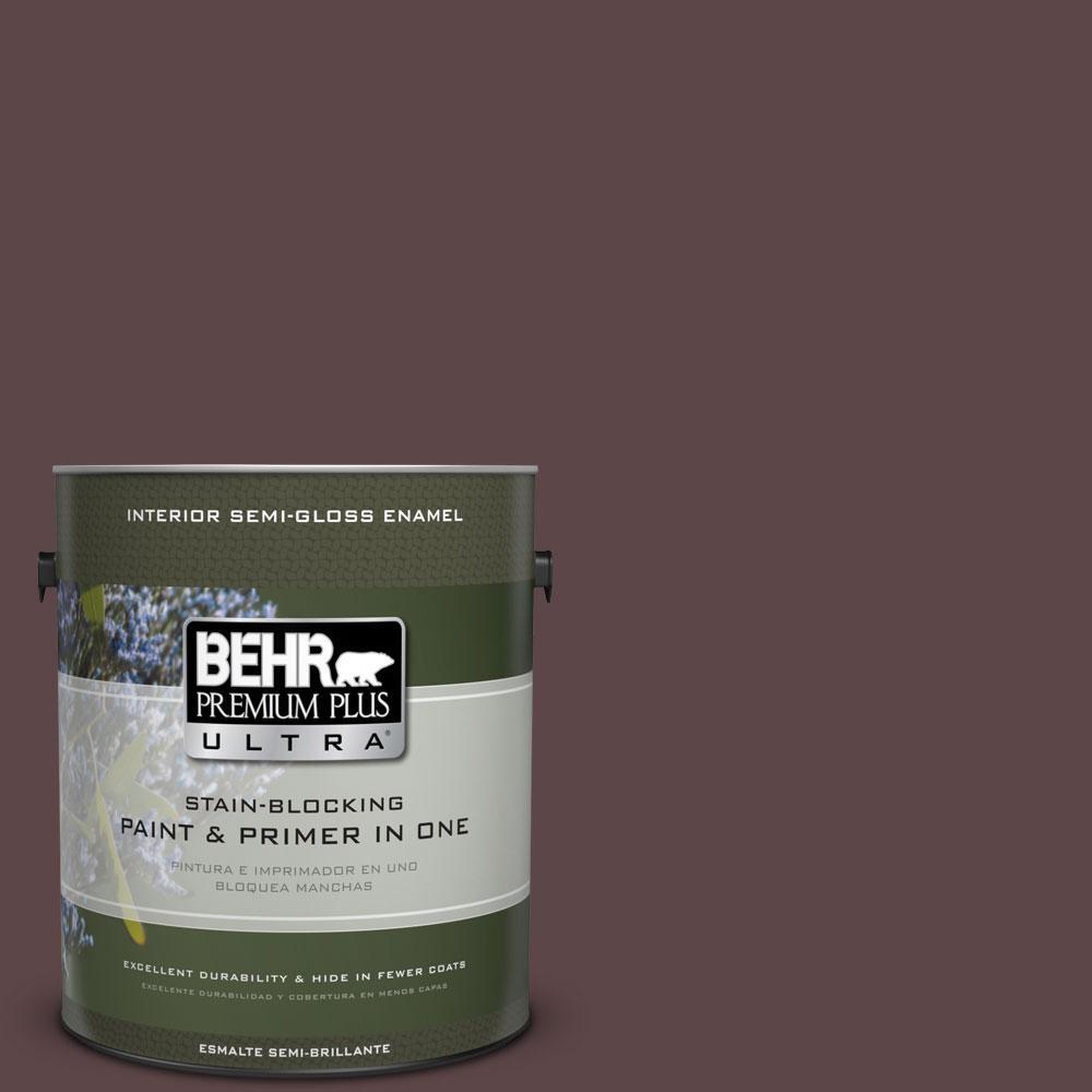1-gal. #BNC-31 Mahogany Spice Semi-Gloss Enamel Interior Paint