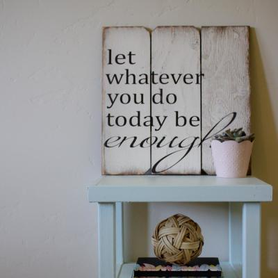 """16 in. x 16 in. """"Let Whatever You Do Today"""" Wood Wall Art"""