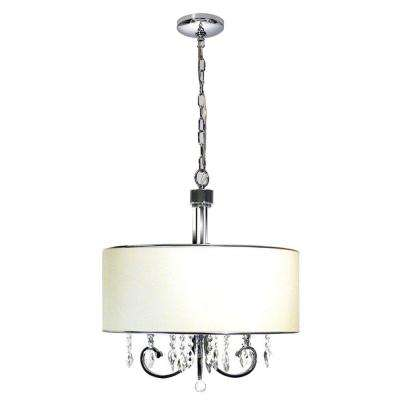 Paola 3-Light Polished Chrome Chandelier