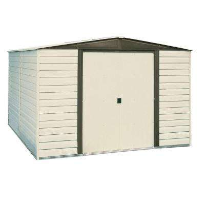 Dallas 10 ft. x 8 ft. Vinyl-Coated Steel Storage Shed with Floor Kit
