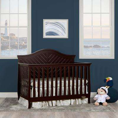 Kaylin Chocolate 5 in 1 Convertible Crib