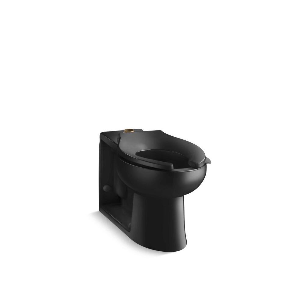 KOHLER Anglesey Elongated Toilet Bowl Only in Black Black
