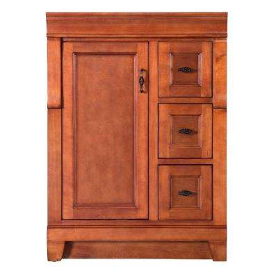 Naples 24 in. W Bath Vanity Cabinet Only in Warm Cinnamon with Right Hand Drawers