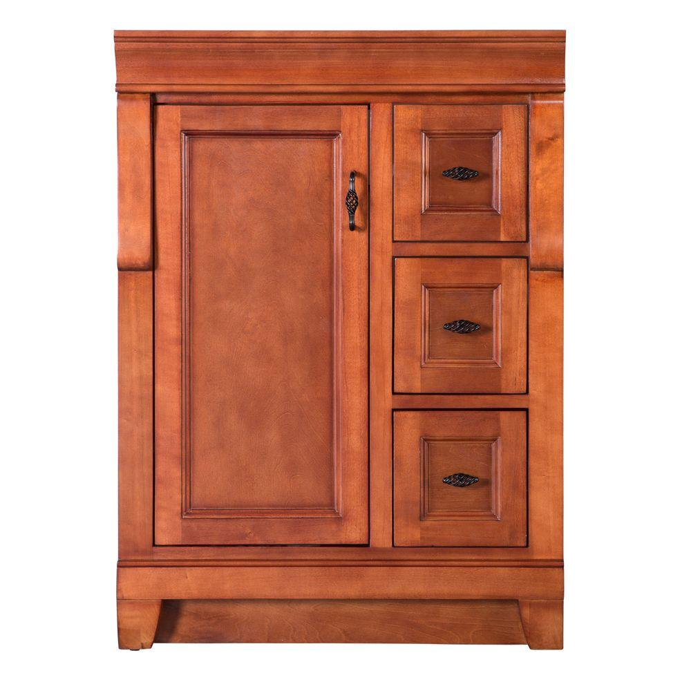 Home Decorators Collection Naples 24 In. W Bath Vanity Cabinet Only In Warm  Cinnamon With