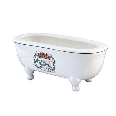 Savons Aux Fleurs Double Ended Claw Foot Tub Soap Dish in White