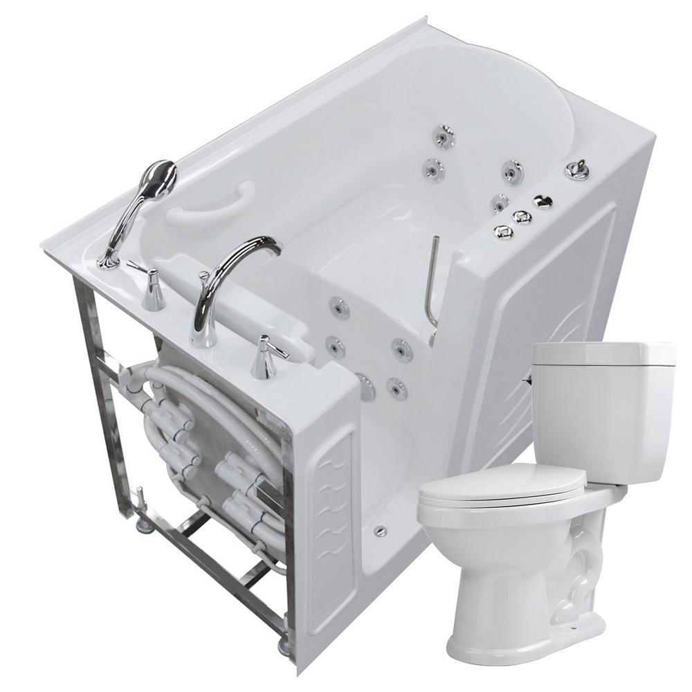 Universal Tubs Nova Heated 52.8 in. Walk-In Whirlpool Bathtub in ...