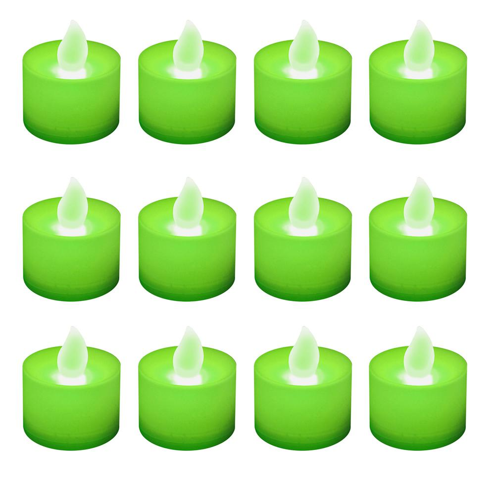 Green LED Tealights (Box of 12)