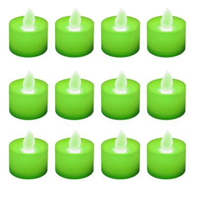 Lumabase Green LED Tealights (Box of 12)