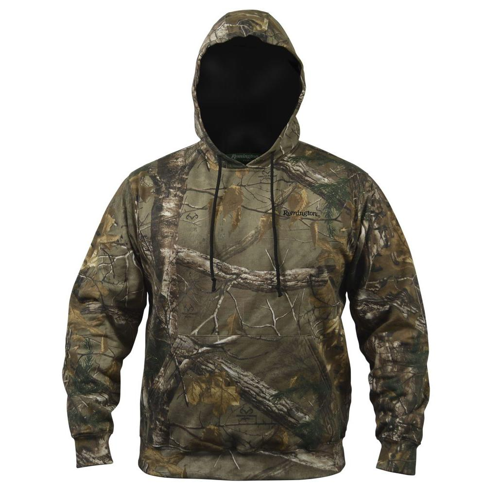 Extra Large Camo Hooded Sweat Shirt in Brown
